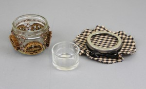 Open jelly jar with Walnut slice ring opened