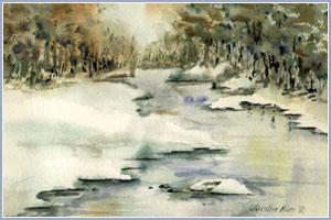 Fall's Snow Path  – Original