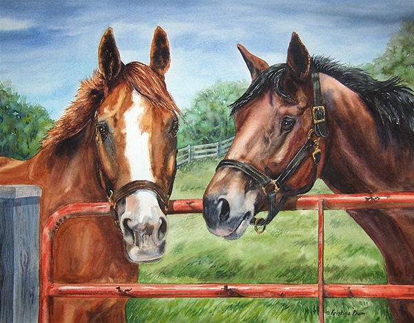 Friends at the Gate -Giclee Print Large