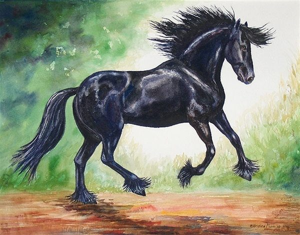 Flying Friesian II - Original
