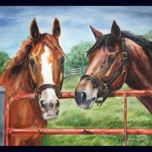 Friends At The Gate Note Cards - Box of 12