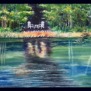 Emerald Reflections II Note Card