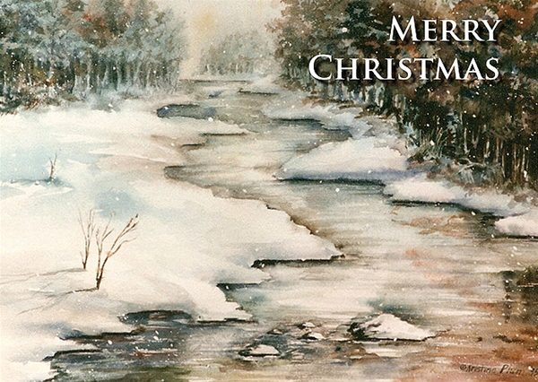 Winter Reflections Christmas Card - Boxed set of 12