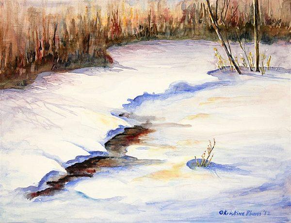 Winter Sunset - Original