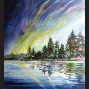 Northern Lights Note Card