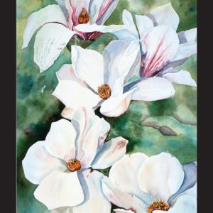 Sunny Magnolias Note Card