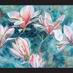 Spring Magnolias Note Card