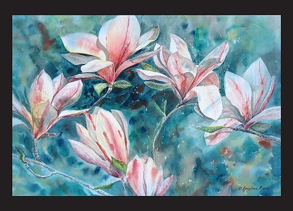 Spring Magnolias Note Card