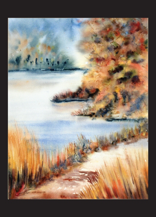 Red Maple Lake Note Card