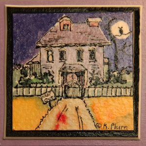 Haunted House Magnet - Box of 3