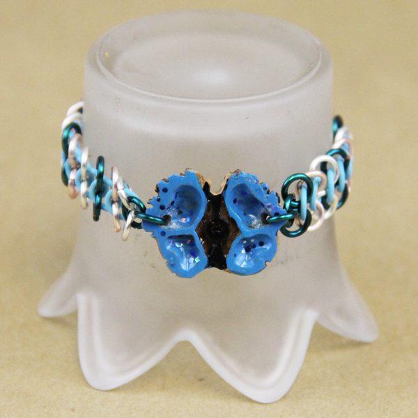 Butterfly chain mail bracelet
