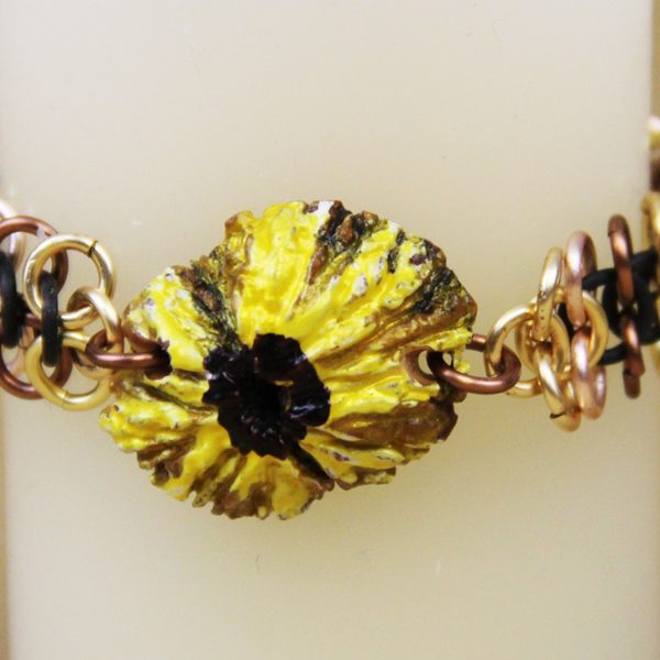 Sunflower Black Walnut bracelet