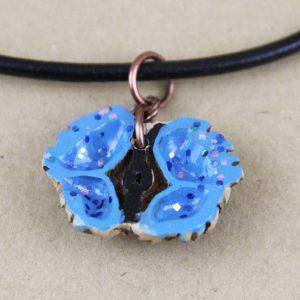 Black Walnut butterfly necklace
