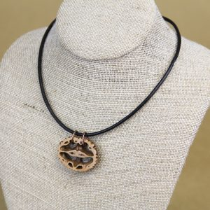 Black Walnut slice necklace