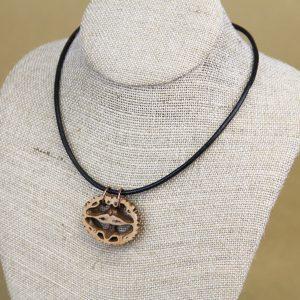 Black Walnut slice necklace