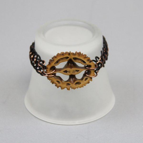 Black Walnut Center cut bracelet