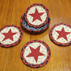 Red white and blue coasters