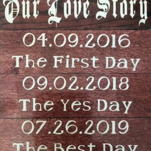 Our Love Story Sign