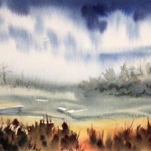 Wet in Wet Watercolor Demo