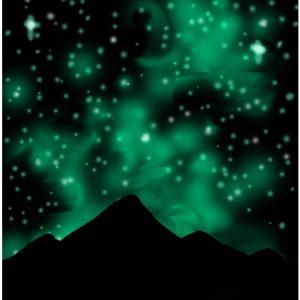 Green Galaxy Acrylic
