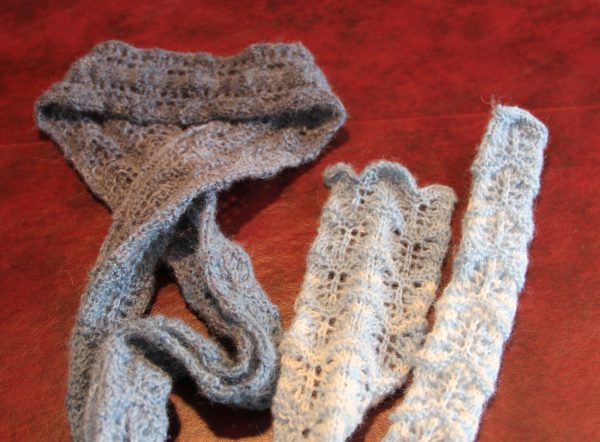 Blue Lace knit
