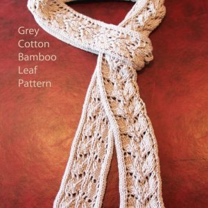 Knit Leaf pattern in Cotton Bamboo